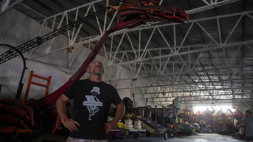 Los constructores de carrozas perderán un 40% de negocio sin las cabalgatas de Reyes