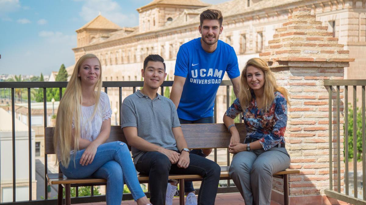 Alumnos internacionales en el Campus de Los Jerónimos. ucam
