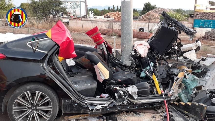 Tres heridos en un accidente en la CV-35 a la altura de San Antonio de Benagéber