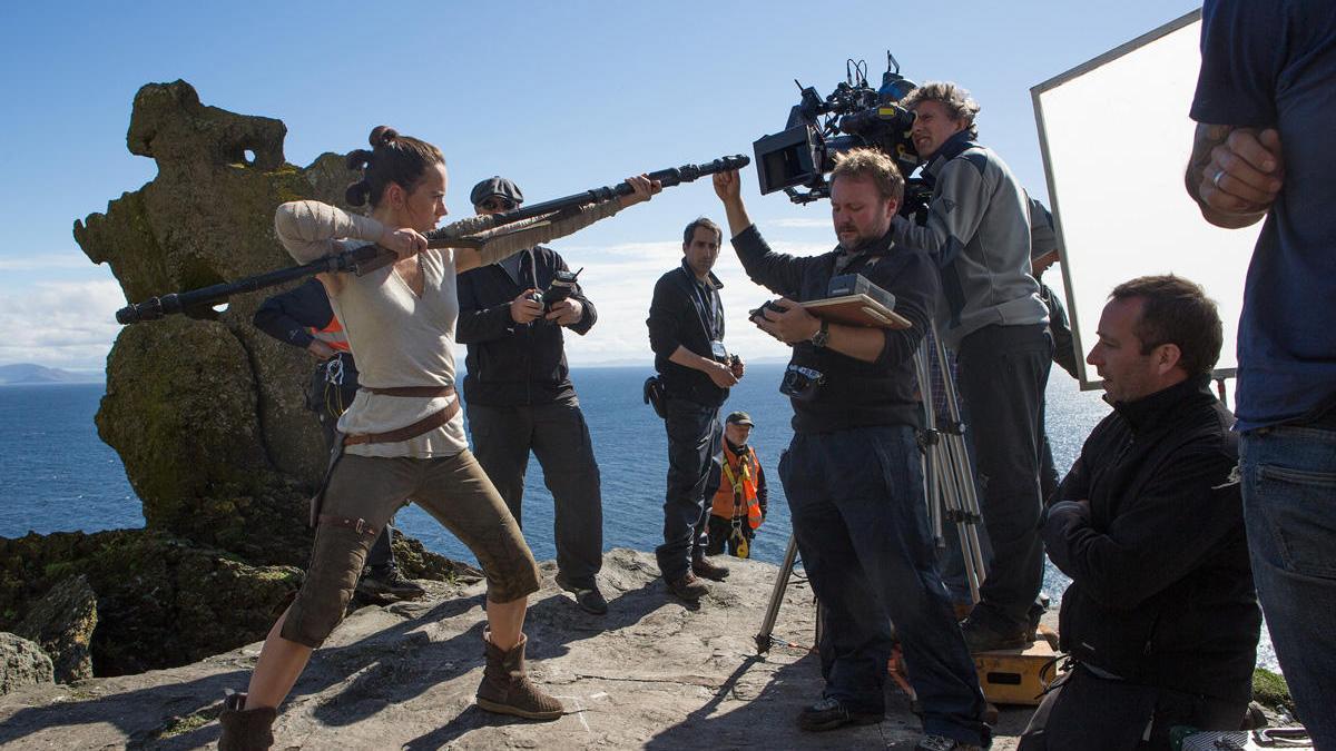 Una imagen del rodaje de la película 'Star Wars : Els Últims Jedi'.