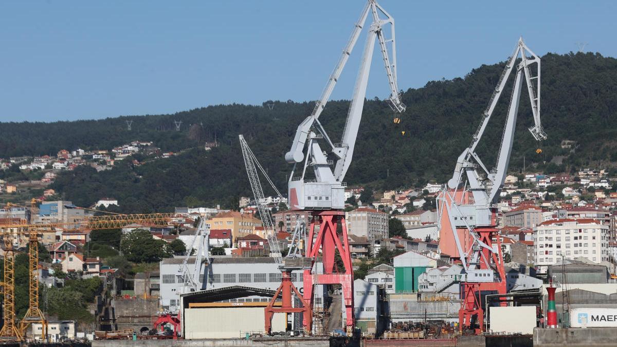 Vista del astillero Vulcano de Vigo. // Ricardo Grobas