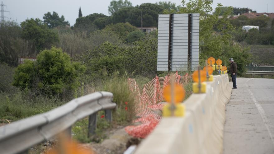 Afectacions a la carretera de Viladordis per les obres de l'avinguda Països Catalans