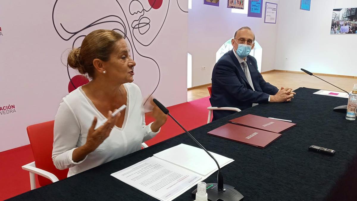 Carmela Silva y Manuel Reigosa, esta mañana // Ricardo Grobas