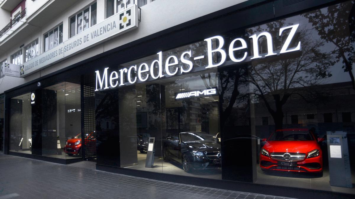 Las instalaciones de Mercedes-Benz Valencia de la calle Micer Mascó.