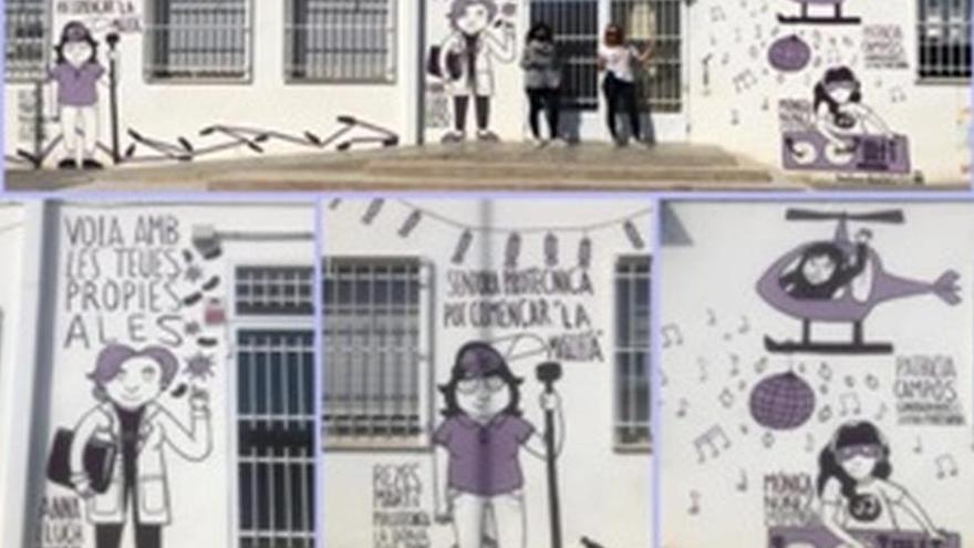 L'alumnat del CEIP l'Albea dedica un mural a les dones de la seua vida