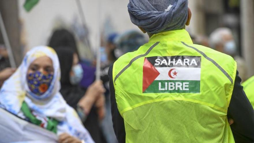 Canarias se suma  a la 'Marcha por  la libertad del  pueblo saharaui'