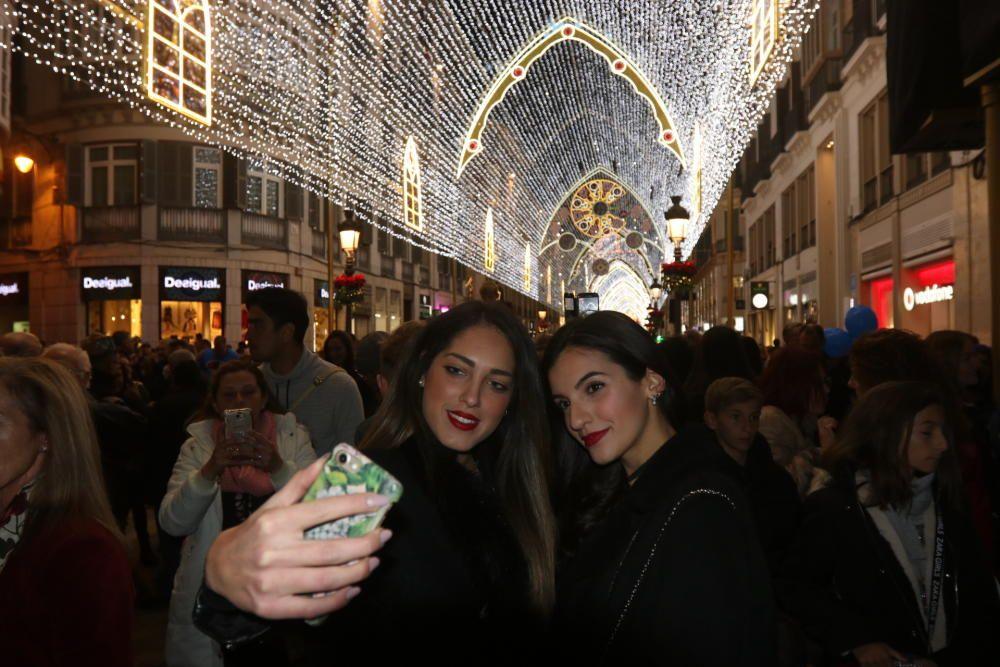 El encendido de las luces de Navidad de la calle Larios de 2018