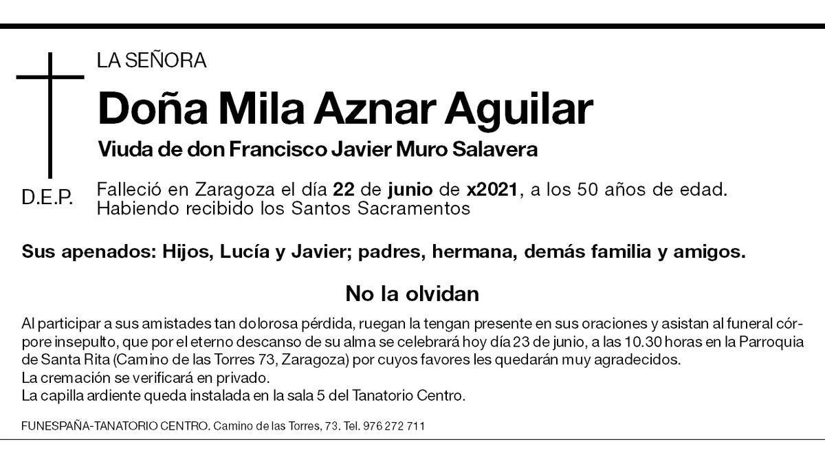 Mila Aznar Aguilar
