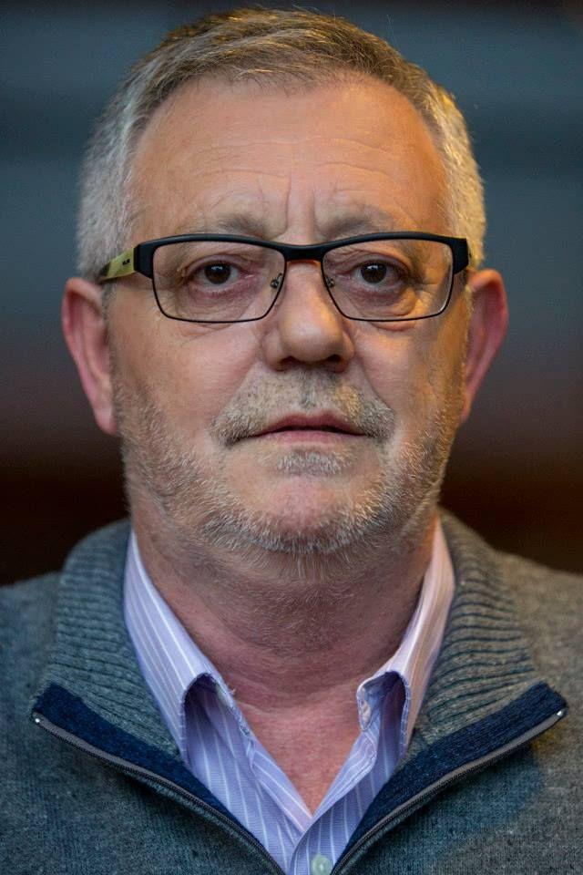 Xosé Manuel Pazos, fotografiado como concejal de ACE en Cangas en mayo de 2015
