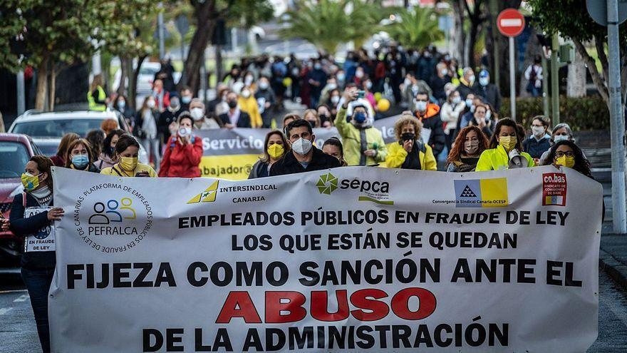La fractura sindical por el conflicto de los interinos llega a las calles