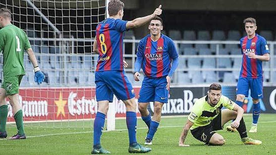 Histórica goleada del Barcelona B al Eldense: 12-0