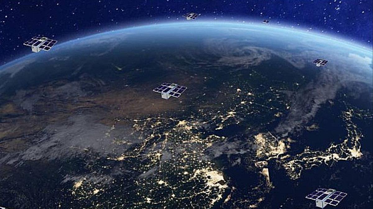 Virtual image of the future network of nanosatellites.