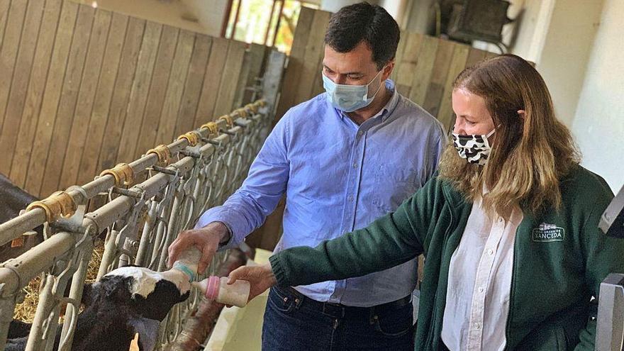 """Caballero compromete """"una apuesta clara"""" para el lácteo para frenar el cierre de granjas"""