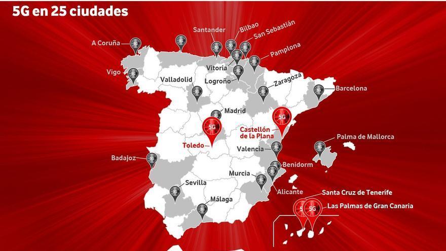 Vodafone lleva la red 5G más rápida a Castelló