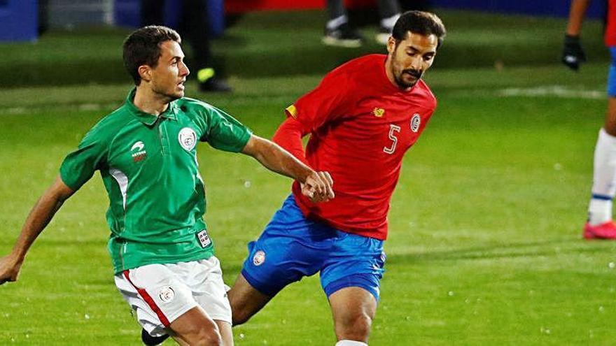Borges juega casi todo el partido contra Euskadi