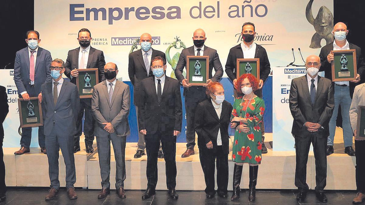 Imagen de los ganadores de los premios de 'Mediterráneo' en la última ceremonia de entrega celebrada en noviembre del 2020 en Castelló.
