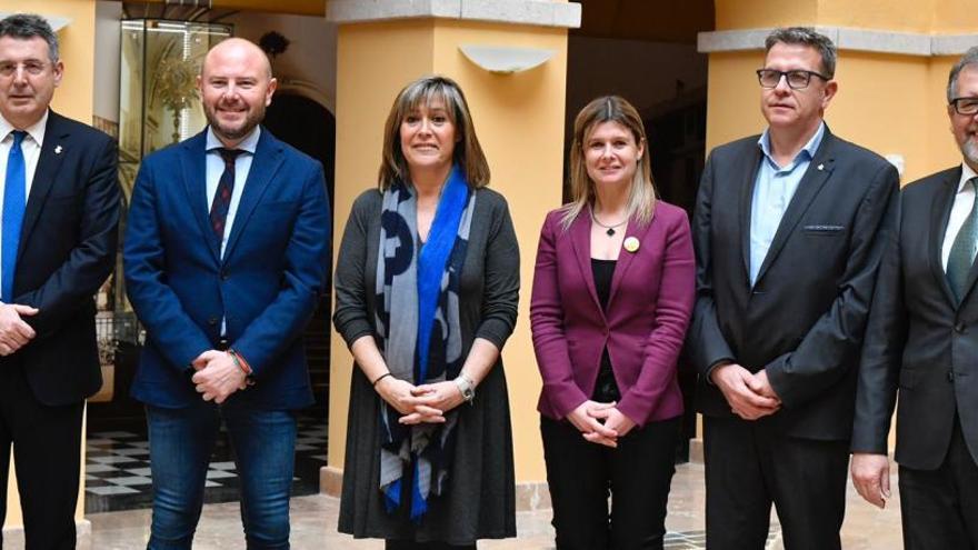 Frente común de seis diputaciones a favor del corredor del mediterráneo