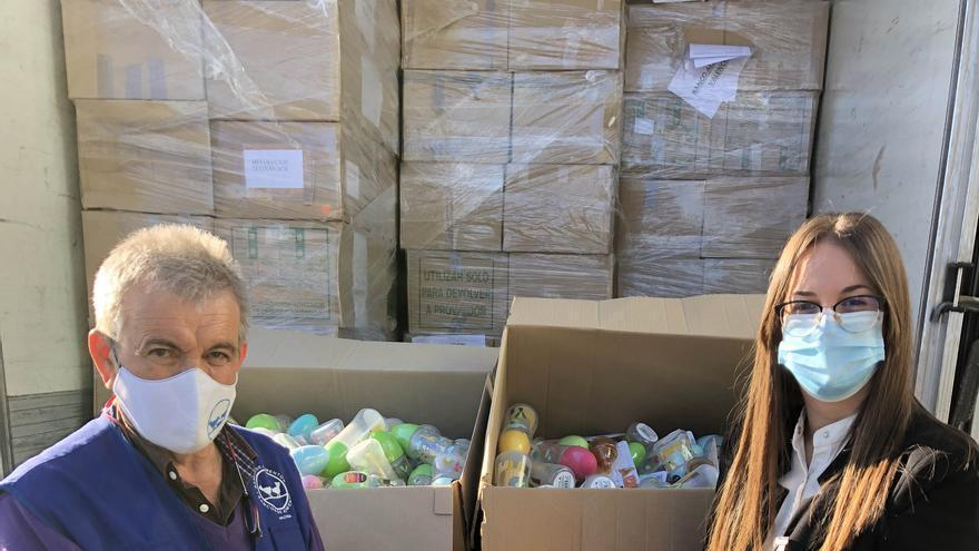 Mercadona dona 10.000 kilos de productos de primera necesidad al Banco de Alimentos de València