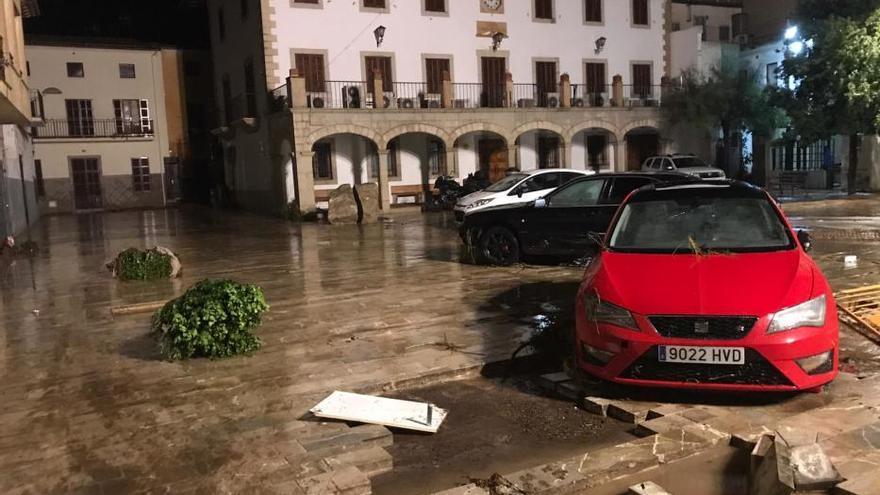El centro de Sant Llorenç tras las inundaciones