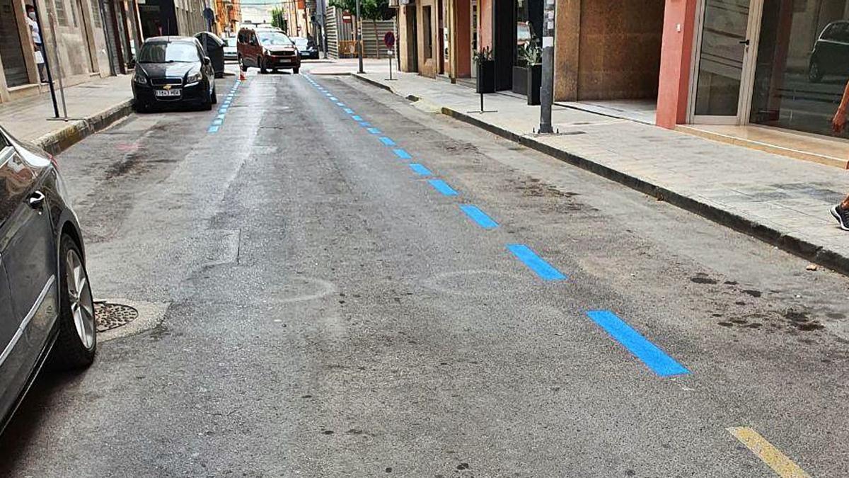 Algunas de las plazas de aparcamiento que se ampliaron en agosto para restituir las que se perdieron por ampliación de terrazas.