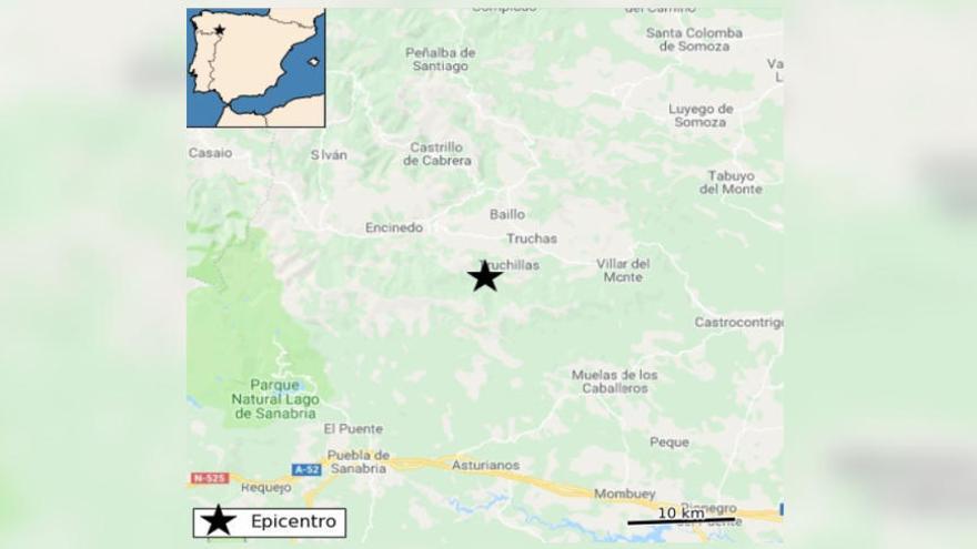 Un terremoto de magnitud 2 al norte de Zamora sacude la frontera sanabresa