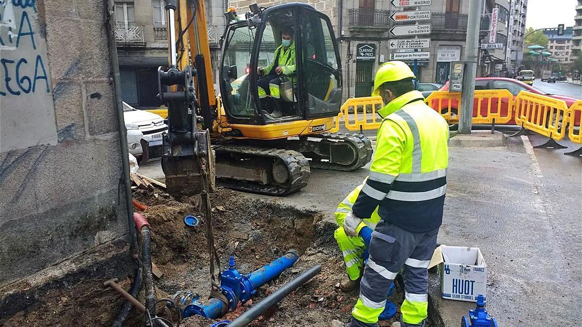 Avance de las obras en la rúa Marcelo Macías. |   // FDV