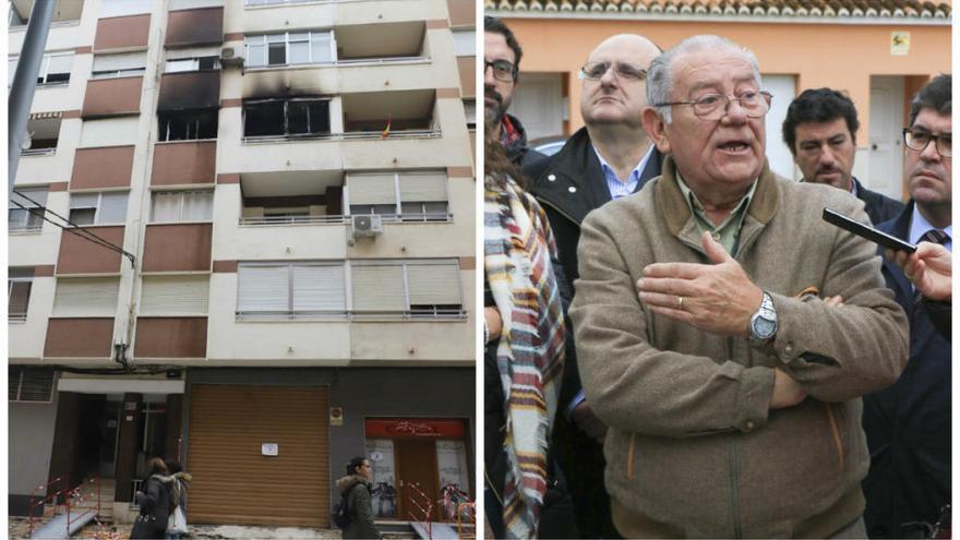 Duelo por la trágica muerte del alcalde de Castellonet en un incendio en su vivienda