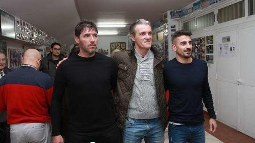 Sáez y Fontán, con los entrenadores