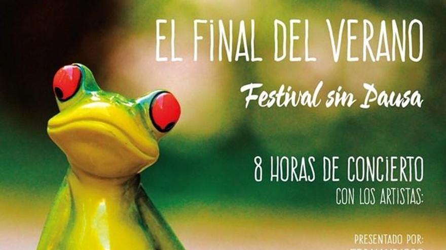 Cartel del Festival Sin Pausa que se celebrará en Fuentesaúco (Zamora).