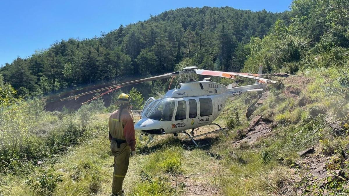 Helicóptero siniestrado sin daños personales.