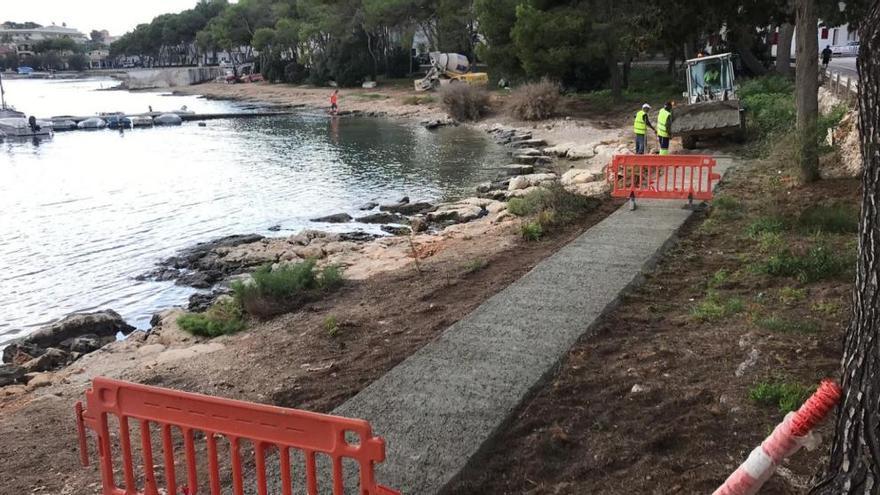 Aufregung um asphaltierten Weg am Meer in Portocolom