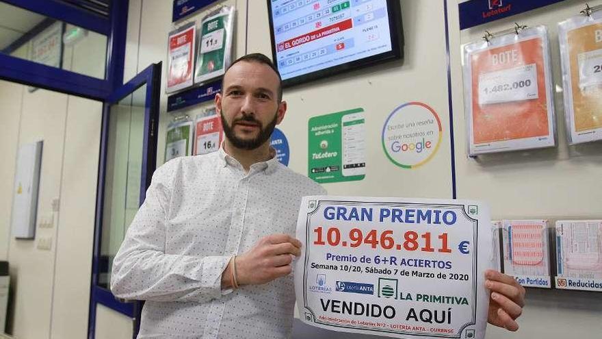 """Jorge Anta: """"No sé quién ganó La Primitiva de 11 millones de euros, pero es el premio más alto que cayó en la ciudad"""""""