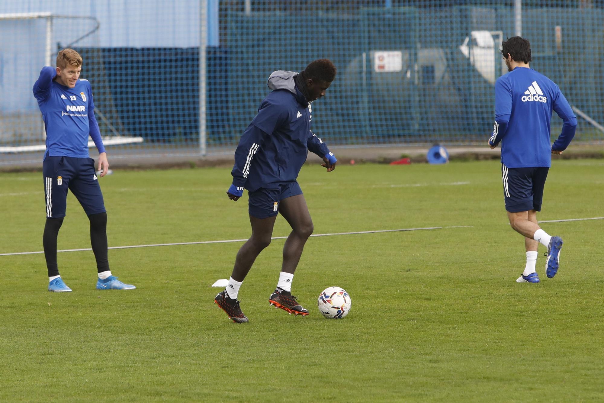 El entrenamiento del Oviedo