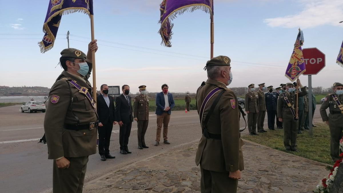 Militares asisten a la conmemoración de la Batalla de Toro de 1476.