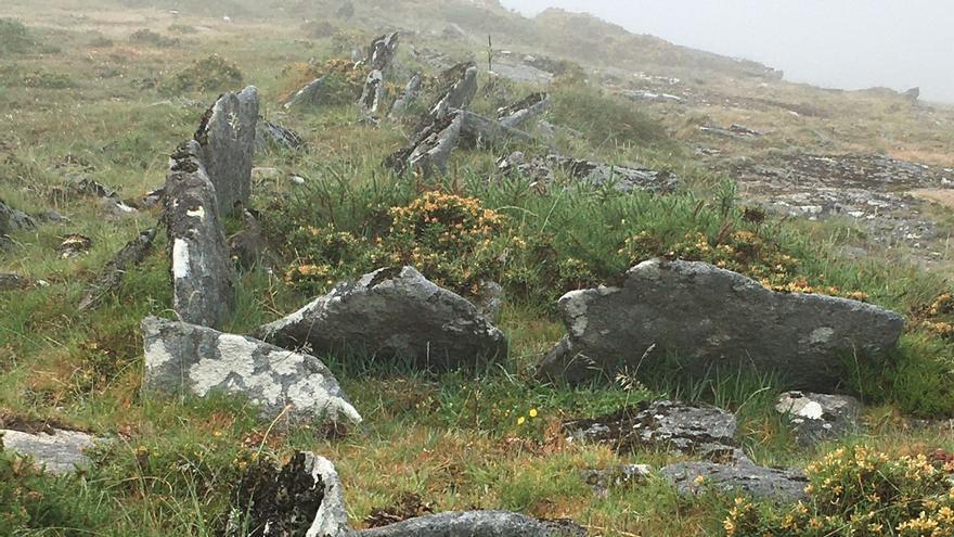 Descubren los restos de un campamento romano temporal en la Serra do Suído