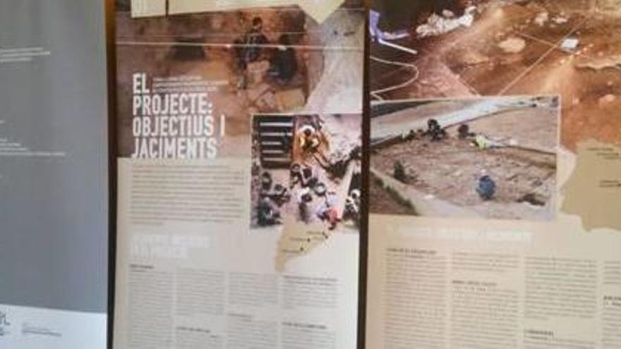 La Universitat de Girona inaugura una exposició sobre la vida durant la prehistòria