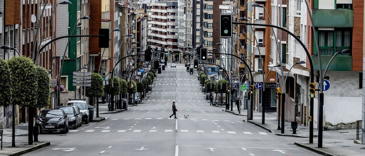 Calles vacías durante el confinamiento