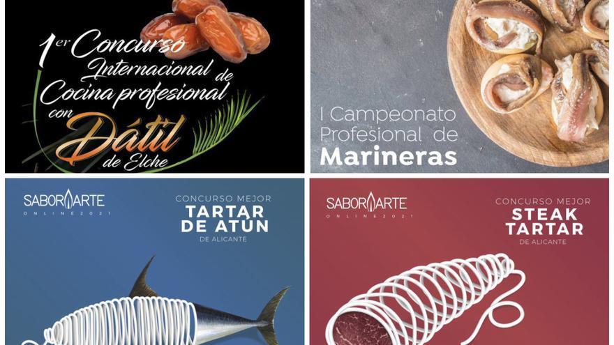 Alicante y Murcia compiten por la mejor elaboración con dátil de Elche, marineras, steak tartar y tartar de atún