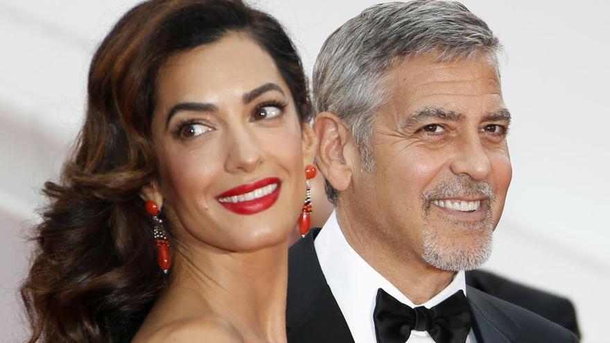 George Clooney y Amal, padres de gemelos