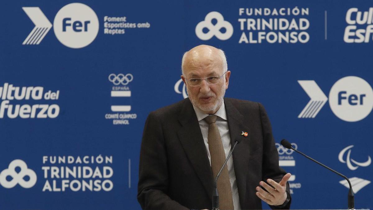 Juan Roig, durante una intervención sobre la Fundación.