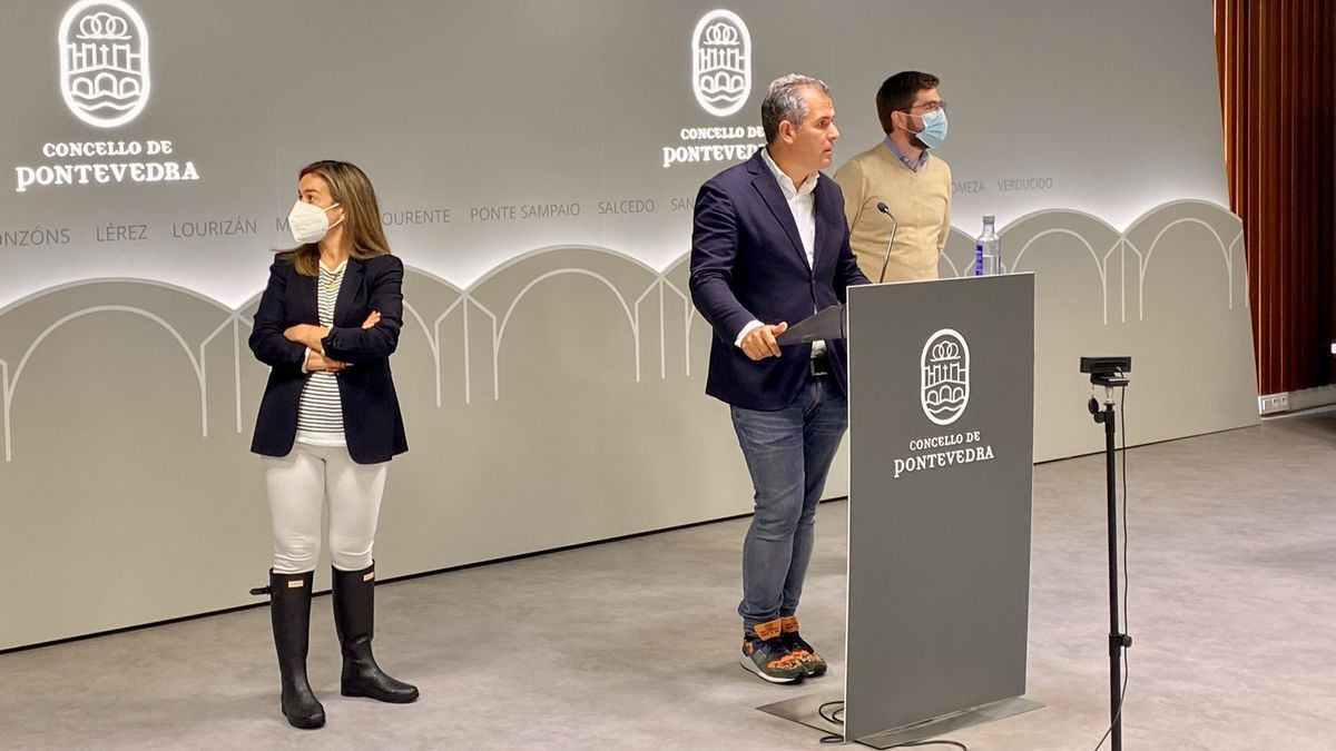 Pepa Pardo, Rafael Domínguez y Pablo Fernández