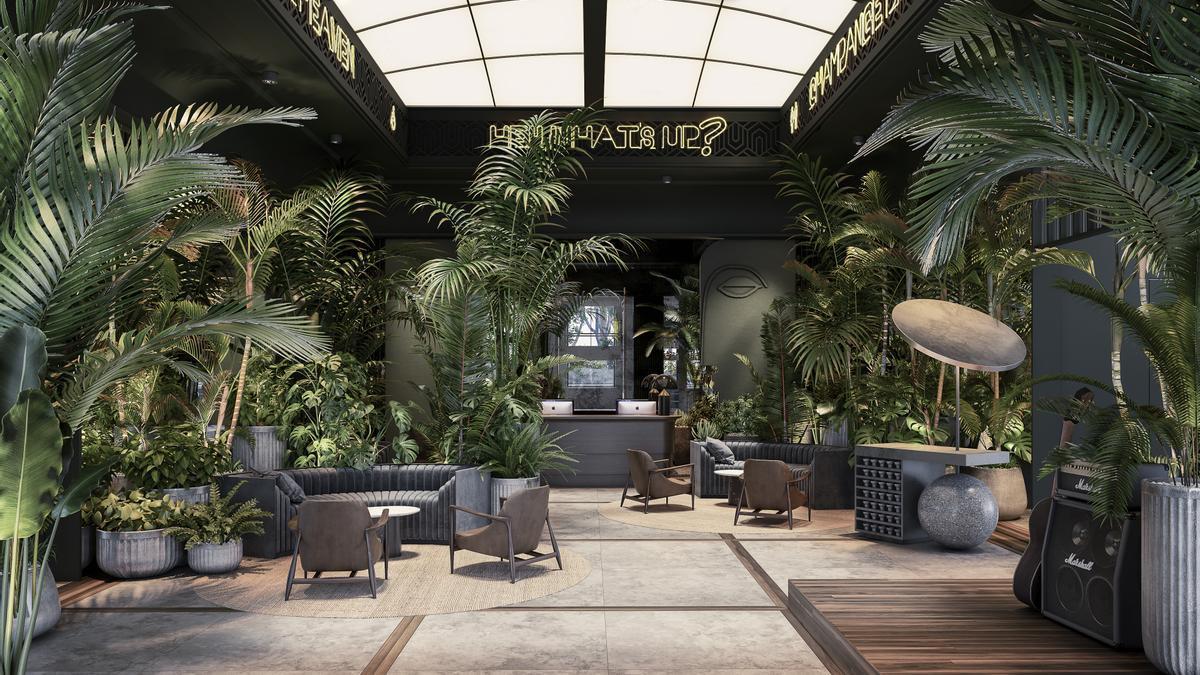 Así será el hotel Only You Málaga, ubicado en la torre de La Equitativa.