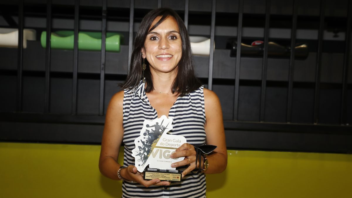 Esther Navarrete, premio de atletismo en la 22 Gran Gala do Deporte de Vigo y comarca. 16 junio 2021. Ricardo Grobas