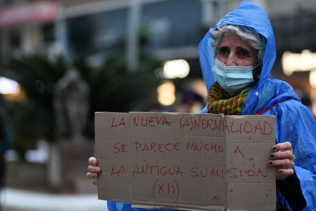 Manifestación feminista en Murcia