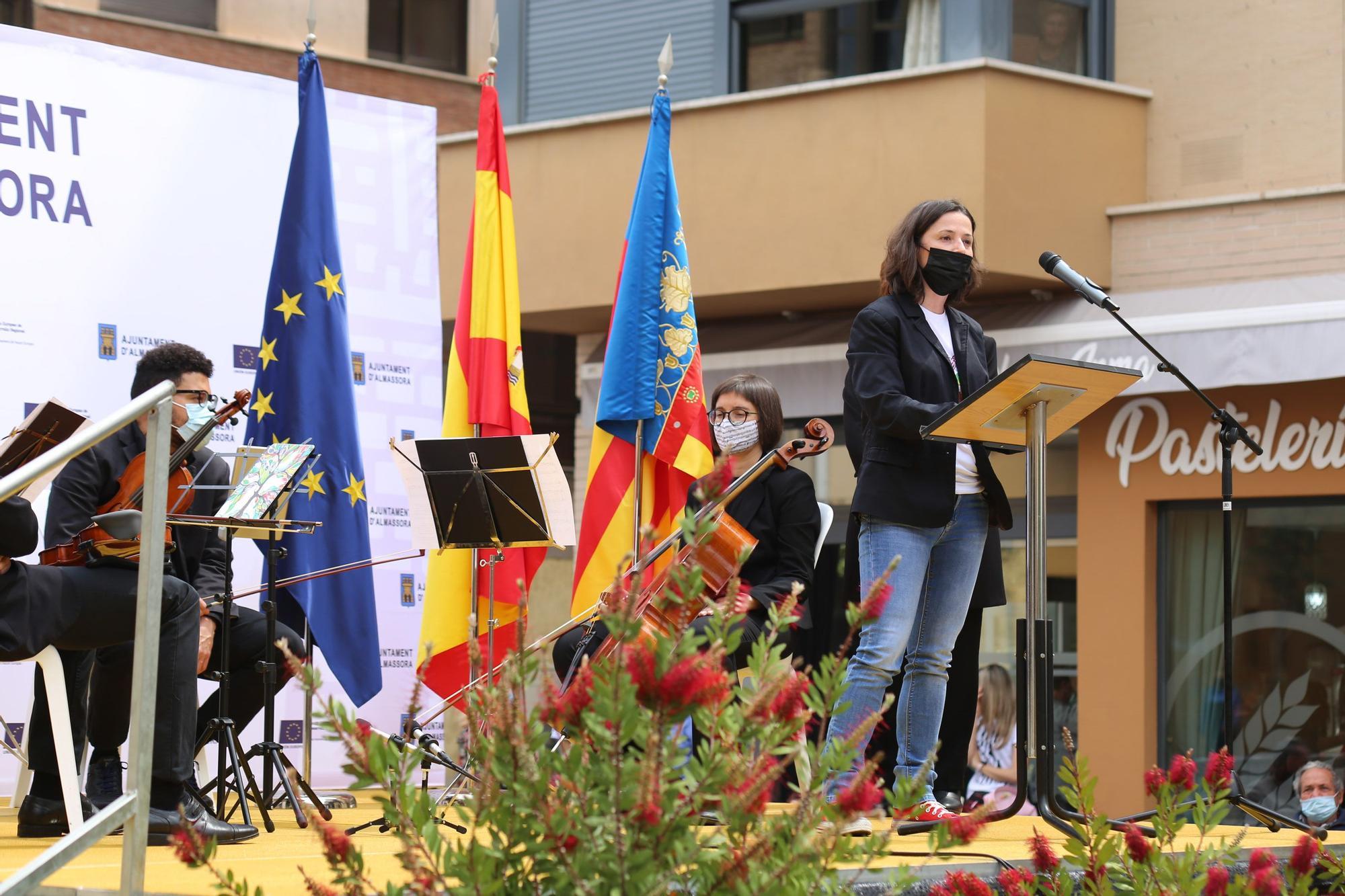 Homenaje en Almassora a las víctimas del covid y los trabajadores esenciales durante la pandemia