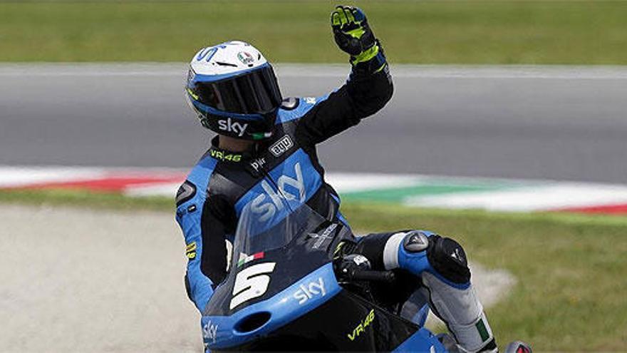 Fenati, 'pole' de Moto3 en el último instante