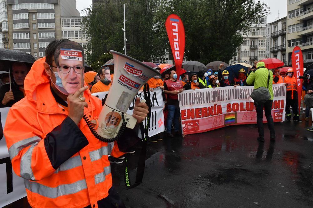 Protesta de los trabajadores de la antigua Alcoa