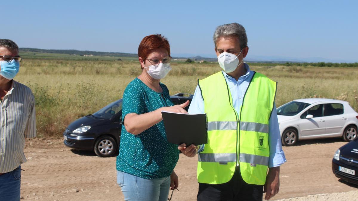 A punto de finalizar las obras de acondicionamiento de la carretera Jumilla-Ontur