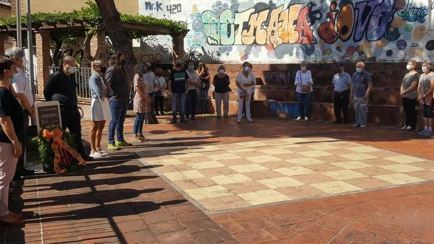 Avinyó celebra la Diada amb la tradicional ofrena al parc Onze de Setembre