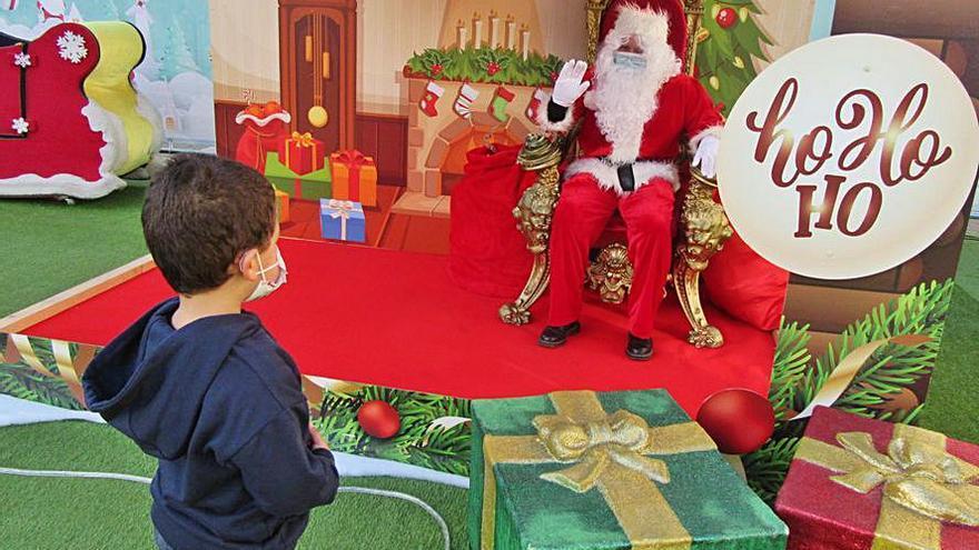 Papá Noel no defrauda en Cangas de Onís